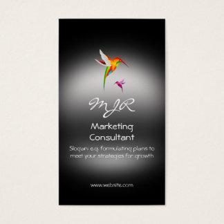 Monograma, consultor de marketing, metal-olhar cartão de visitas