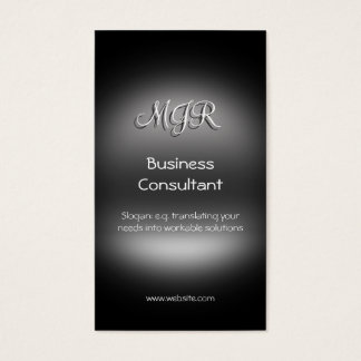 Monograma, consultor empresarial, metal-olhar cartão de visitas