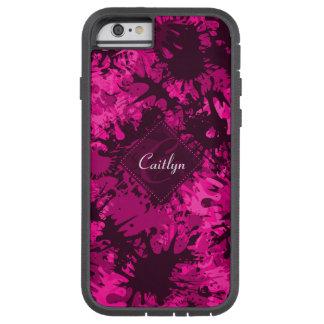 Monograma cor-de-rosa abstrato criativo & do capa iPhone 6 tough xtreme
