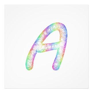 Monograma da letra A do arco-íris Impressão De Foto