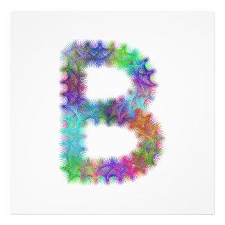 Monograma da letra B do Fractal Impressão De Foto