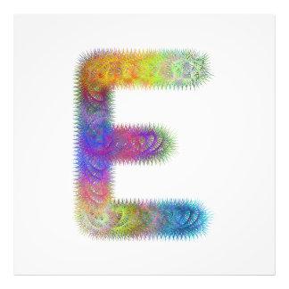 Monograma da letra E do Fractal Impressão De Foto