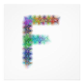 Monograma da letra F do Fractal Impressão De Foto