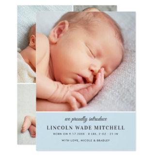 Monograma da Multi-Foto do anúncio | do nascimento