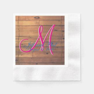 Monograma da parede 3d do celeiro guardanapo de papel