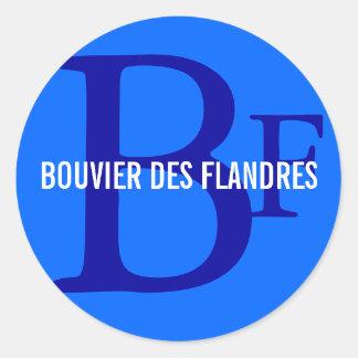 Monograma da raça do DES Flandres de Bouvier Adesivo