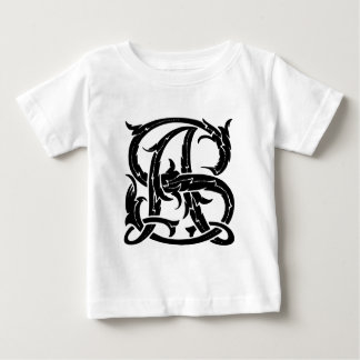 Monograma de AS-SA Camiseta Para Bebê