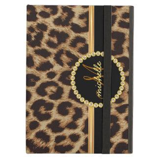 Monograma de Bling do ouro do leopardo