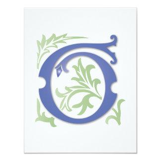Monograma de G da flor de lis Convite 10.79 X 13.97cm