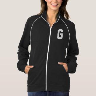 Monograma de G da letra na jaqueta branca das