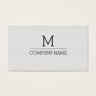 Monograma de madeira profissional #5 da grão cartão de visitas