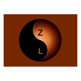 monograma de yang do yin - café cartão de visita grande