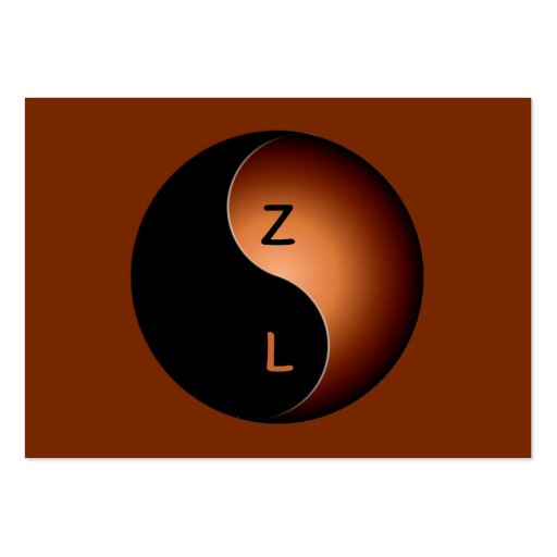 monograma de yang do yin - café cartoes de visitas