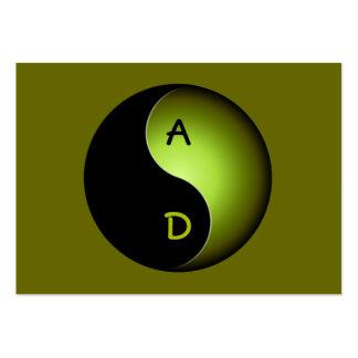 monograma de yang do yin - limão cartão de visita grande