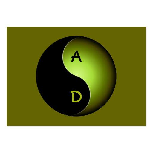 monograma de yang do yin - limão modelos cartão de visita