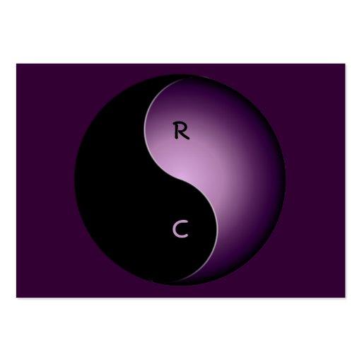 monograma de yang do yin - roxo cartão de visita