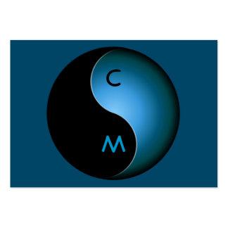 monograma de yang do yin - turquesa cartões de visita