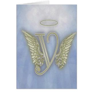 Monograma do anjo cartão de nota