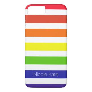 monograma do arco-íris capa iPhone 7 plus