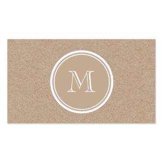 Monograma do fundo do papel de embalagem cartão de visita