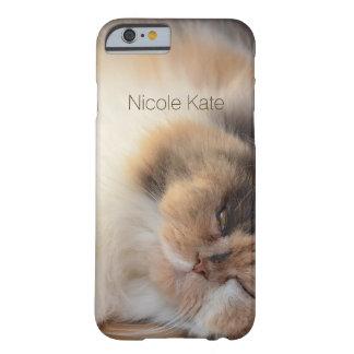 Monograma do gato do sono capa barely there para iPhone 6