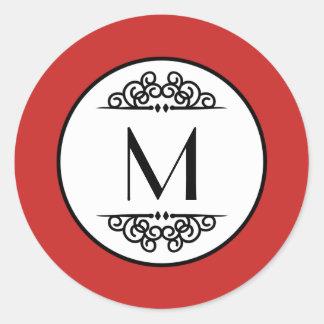 Monograma do vintage - etiqueta do círculo