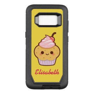 Monograma doce do nome do cupcake do kawaii bonito capa OtterBox defender para samsung galaxy s8
