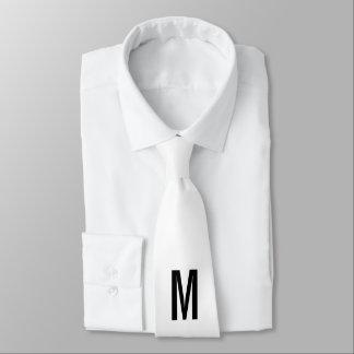 Monograma e nome personalizados modernos gravata