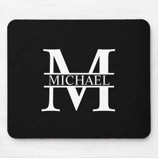 Monograma e nome personalizados mouse pad