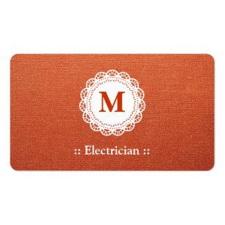 Monograma elegante do laço do eletricista modelos cartões de visita