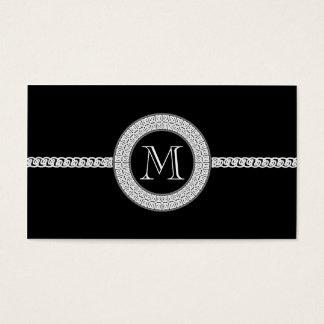 Monograma elegante do modelo de cartão de negócios