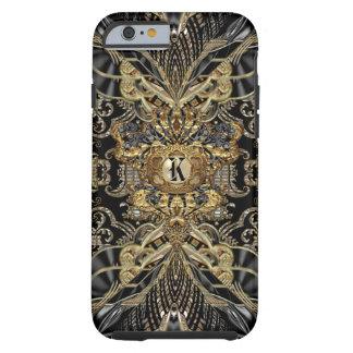 Monograma elegante dos cavaleiros selvagens capa tough para iPhone 6