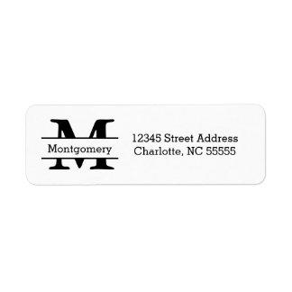 Monograma - etiquetas de endereço