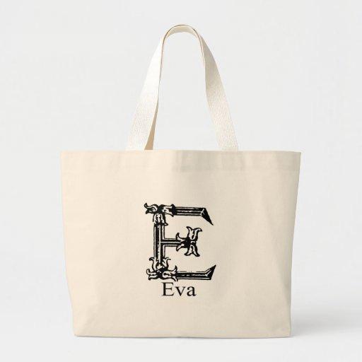 Monograma extravagante: Eva Bolsas Para Compras