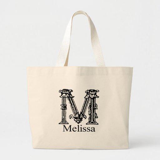 Monograma extravagante: Melissa Bolsas