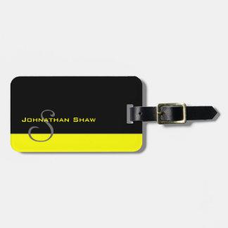 Monograma feito sob encomenda 5 (amarelo) etiqueta de bagagem