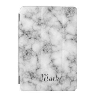 Monograma feito sob encomenda de mármore branco capa para iPad mini