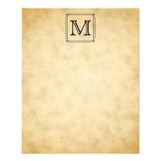 Monograma feito sob encomenda no teste padrão do e panfletos personalizados