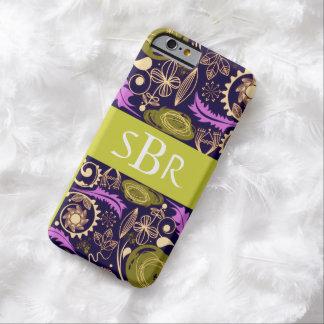 Monograma floral bonito eu telefono à capa de capa barely there para iPhone 6