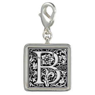 Monograma floral da letra B do vintage elegante Photo Charm