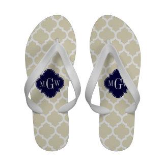 Monograma inicial do marinho 3 bege brancos do calçados