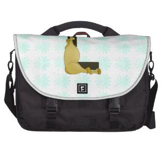 Monograma L cavalo flexível personalizado Bolsa Para Laptops