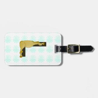 Monograma L cavalo flexível personalizado Tags De Bagagens