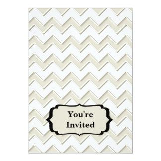 Monograma lustroso branco branco & antigo de convite 12.7 x 17.78cm