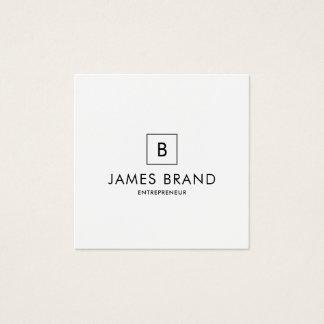 Monograma mínimo elegante cartão de visitas quadrado