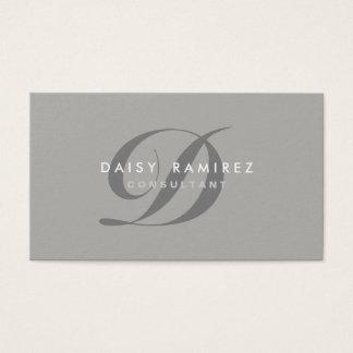 Monograma moderno do cartão de visita profissional