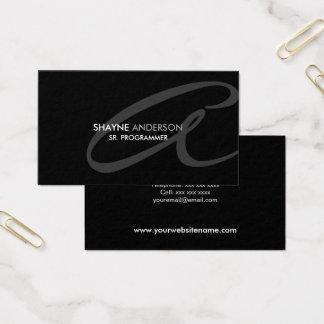 Monograma moderno e elegante cartão de visitas