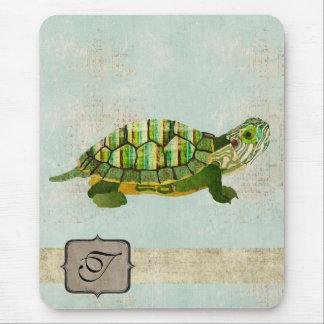 Monograma Mousepad da tartaruga do jade