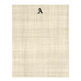 Monograma no insecto de linho do fundo do papel do flyer 21.59 x 27.94cm
