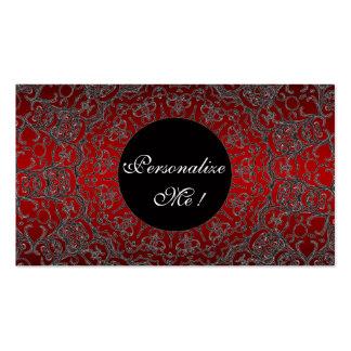 Monograma original elegante do laço feminino cartão de visita